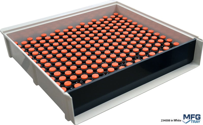 234008-White Vial Loading Trays